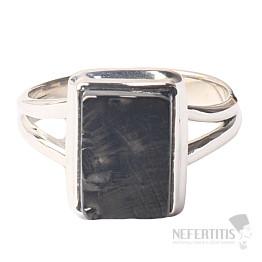Šungit prsten stříbro Ag 925 R796