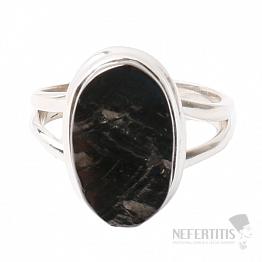 Šungit prsten stříbro Ag 925 R808