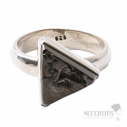 Šungit prsten stříbro Ag 925 R814