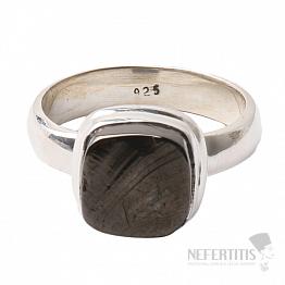 Šungit prsten stříbro Ag 925 R818