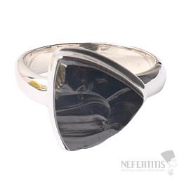 Šungit prsten stříbro Ag 925 R823