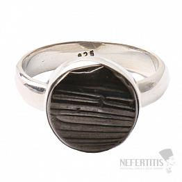 Šungit prsten stříbro Ag 925 R835