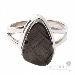 Šungit prsten stříbro Ag 925 R837