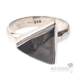 Šungit prsten stříbro Ag 925 R840