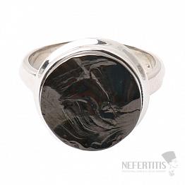 Šungit prsten stříbro Ag 925 R841