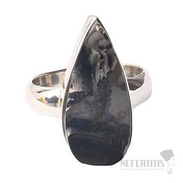 Šungit prsten stříbro Ag 925 R855