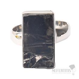 Šungit prsten stříbro Ag 925 R885