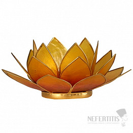 Svícen lotos oranžovožlutý
