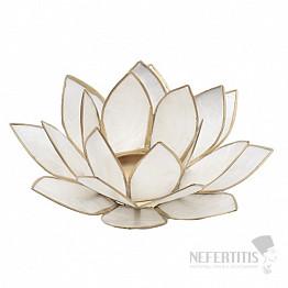 Svícen lotos bílý