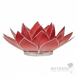 Svícen lotos červený