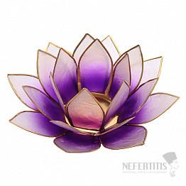 Svícen lotos fialový