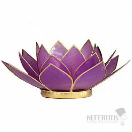 Svícen lotos lila
