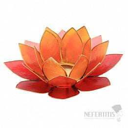 Svícen lotos zlatavěčervený