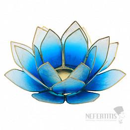 Svícen lotos světlemodrý