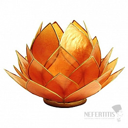 Svícen lotos oranžovozlatý Extra