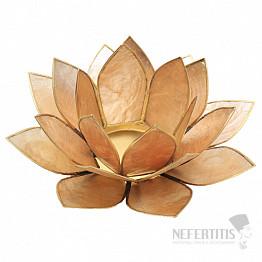 Svícen lotos zlatobéžový