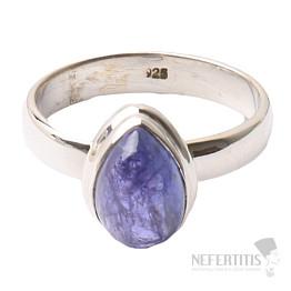 Tanzanit prsten stříbro Ag 925 R335