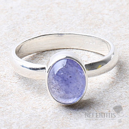 Tanzanit prsten stříbro Ag 925 R404