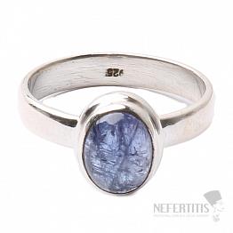 Tanzanit prsten stříbro Ag 925 R354
