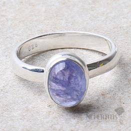 Tanzanit prsten stříbro Ag 925 R369