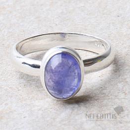 Tanzanit prsten stříbro Ag 925 R386