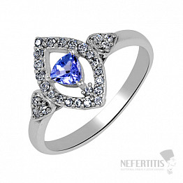 Tanzanit prsten stříbro TZR1004 Ag 925
