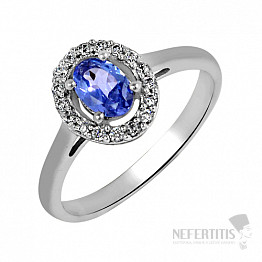 Tanzanit prsten stříbro TZR1009 Ag 925