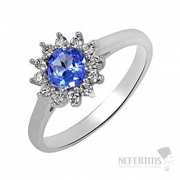 Tanzanit prsten stříbro TZR1011 Ag 925