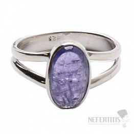 Tanzanit prsten stříbro Ag 925 R280