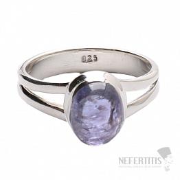Tanzanit prsten stříbro Ag 925 R309
