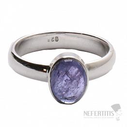 Tanzanit prsten stříbro Ag 925 R315