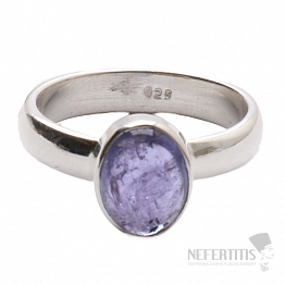 Tanzanit prsten stříbro Ag 925 R316