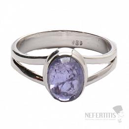 Tanzanit prsten stříbro Ag 925 R317