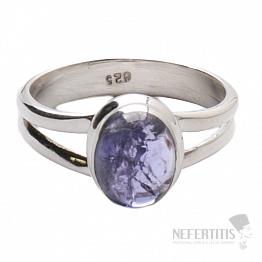 Tanzanit prsten stříbro Ag 925 R322
