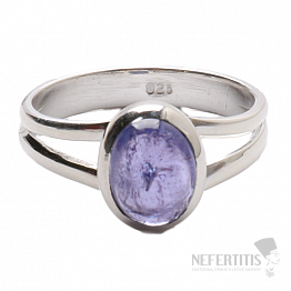 Tanzanit prsten stříbro Ag 925 R324