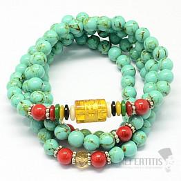 Tyrkys zelený náhrdelník tibetský