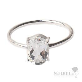 Topaz bílý prsten stříbro Ag 925 R16