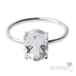 Topaz bílý prsten stříbro Ag 925 R6