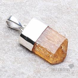 Topaz zlatý Imperial krystal přívěsek Ag 925 P19