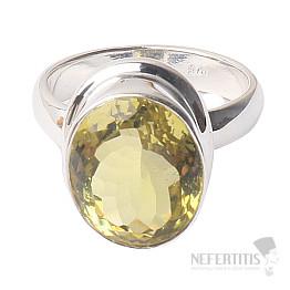 Topaz žlutý Lemon prsten stříbro Ag 925 R205