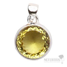 Topaz žlutý Lemon přívěsek stříbro Ag 925 P287