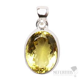 Topaz žlutý Lemon přívěsek stříbro Ag 925 P275
