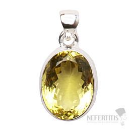 Topaz žlutý Lemon přívěsek stříbro Ag 925 P266