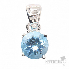 Topaz modrý přívěsek stříbro Ag 925 P781