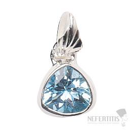 Topaz modrý přívěsek stříbro Ag 925 P783