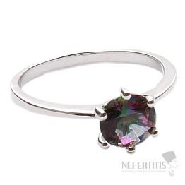 Topaz mystický prsten stříbro Ag 925 R5183