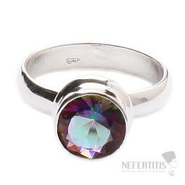 Topaz mystický prsten stříbro Ag 925 R169