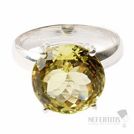 Topaz žlutý Lemon prsten stříbro Ag 925 R227