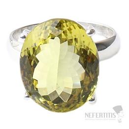 Topaz žlutý Lemon prsten stříbro Ag 925 R222