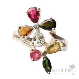Turmalín prsten stříbro Ag 925 R1100